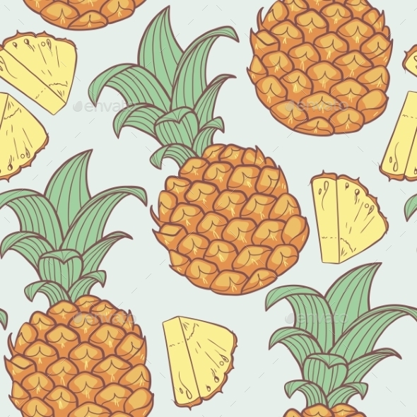 GraphicRiver Pineapple Pattern 10454875