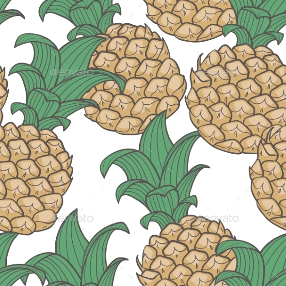 GraphicRiver Pineapple Pattern 10454880