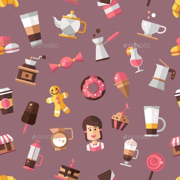 GraphicRiver Coffee Shop Pattern 10454929
