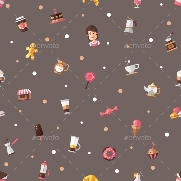 GraphicRiver Coffee Shop Pattern 10454939