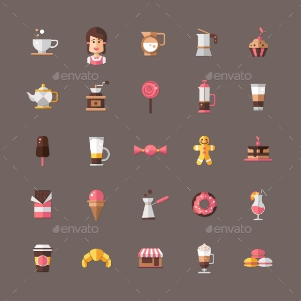 GraphicRiver Coffee Shop Symbols 10454958