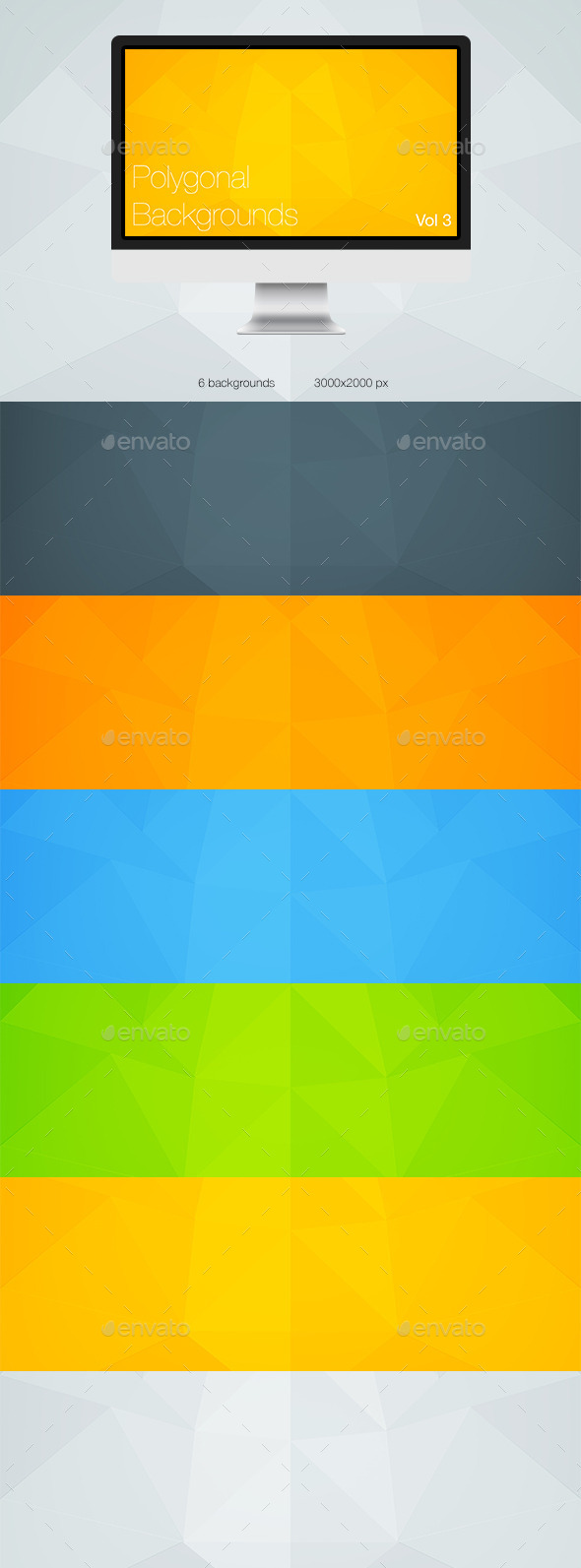 GraphicRiver Polygonal Backgrounds Vol 3 10455244