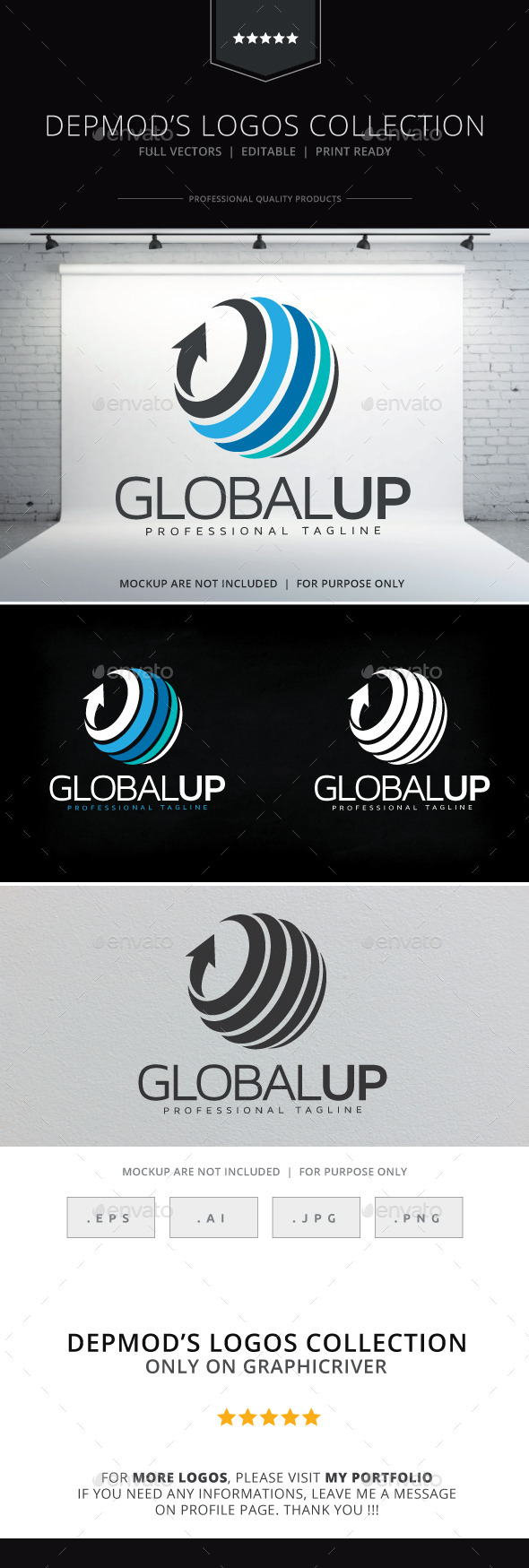 GraphicRiver Global Up Logo 10455368