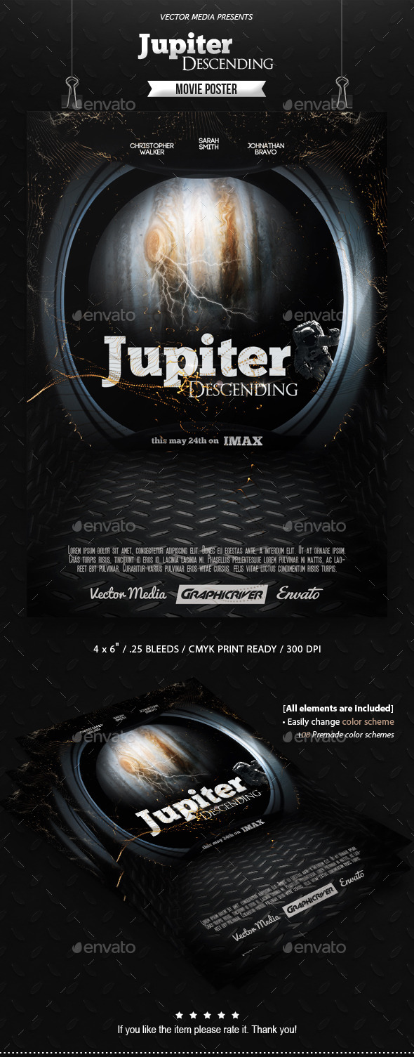 GraphicRiver Jupiter Descending Movie Poster 10409770