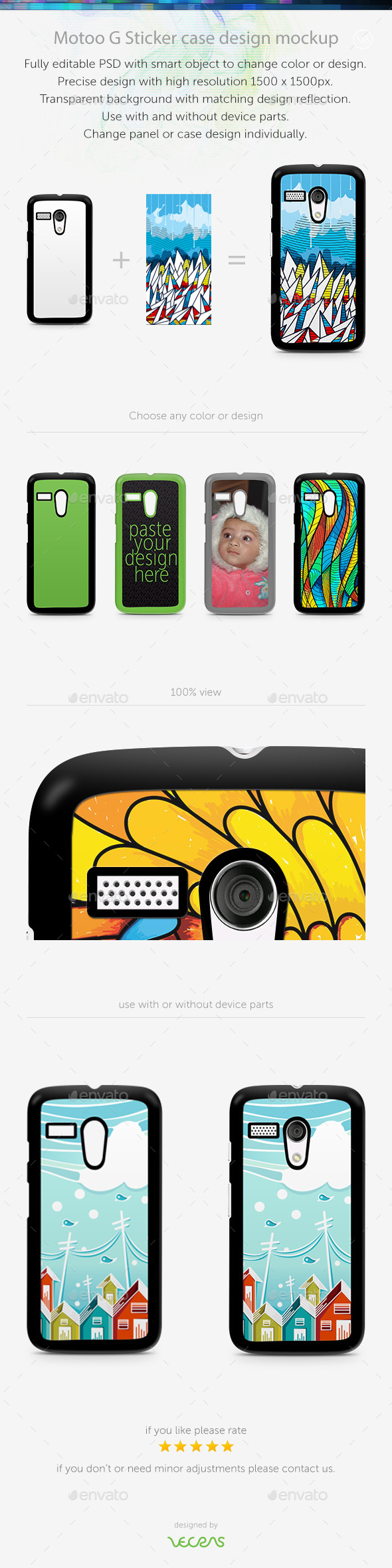 GraphicRiver Motoo G Sticker Case Design Mockup 10414001