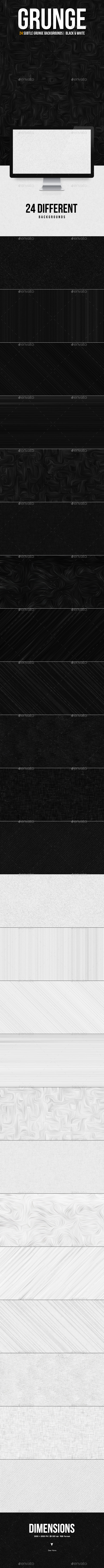 Subtle Texture Backgrounds | Black & White