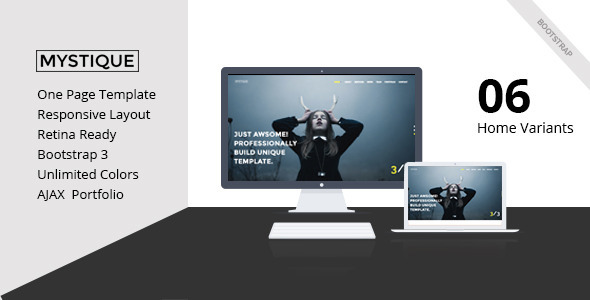 ThemeForest MYSTIQUE Creative One Page HTML5 Template 10398160