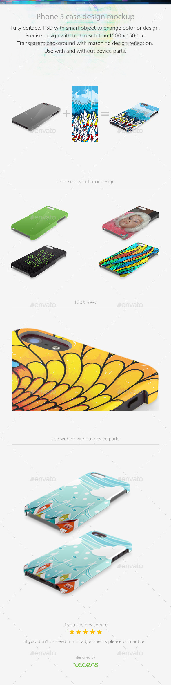 Phone 5 Hard Case Skin Mock up