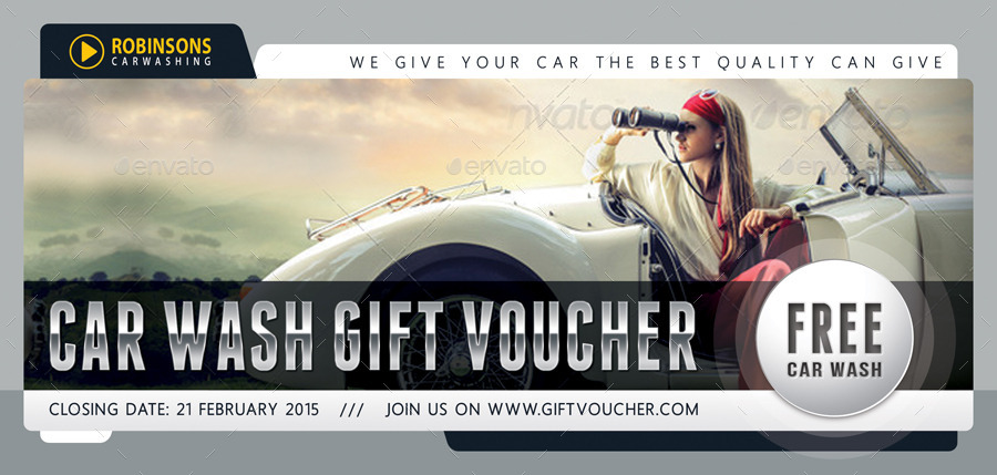 Car Wash Gift Voucher Template V03 by rapidgraf | GraphicRiver