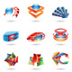 3D Colourful Abstract Icons - GraphicRiver Item for Sale