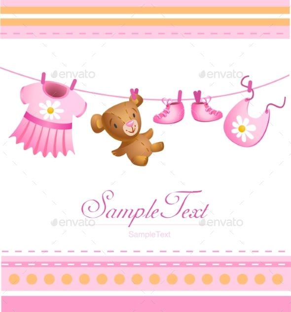 GraphicRiver Baby Arrival Card 10456470