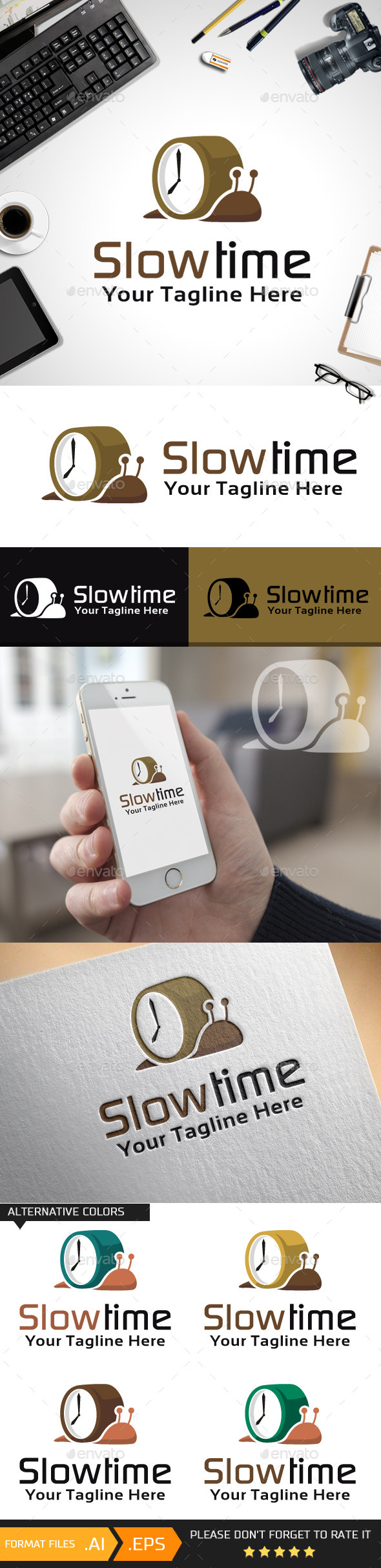 Slow Time Logo Template