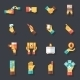 Business Hands Symbols Finance Accessories Icons - GraphicRiver Item for Sale