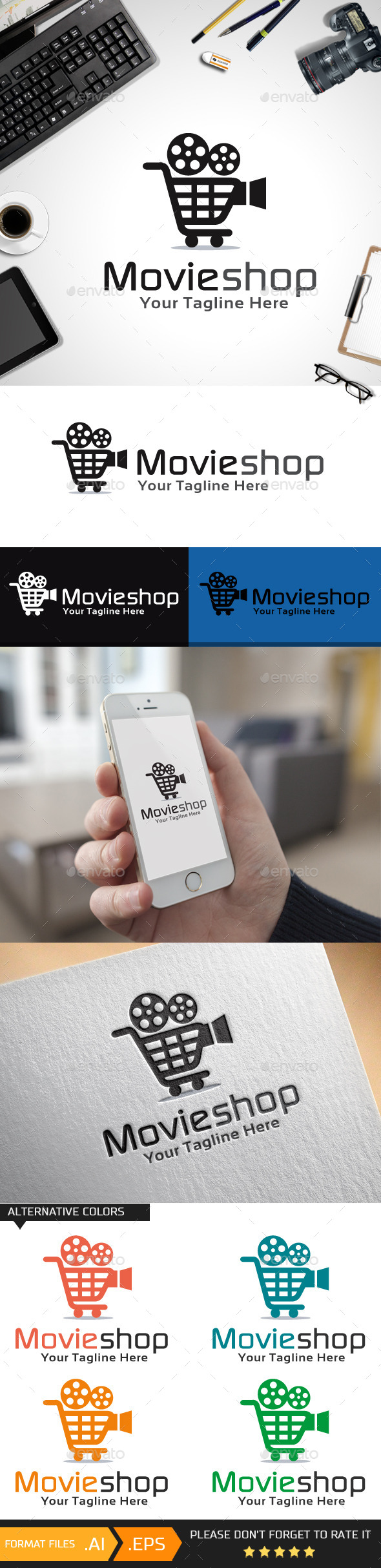 GraphicRiver Movie Shop Logo Template 10456883