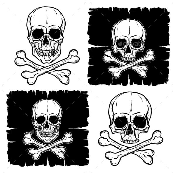 GraphicRiver Set of Skull and Crossbones 10457016