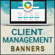 Client Management Banners - GraphicRiver Item for Sale