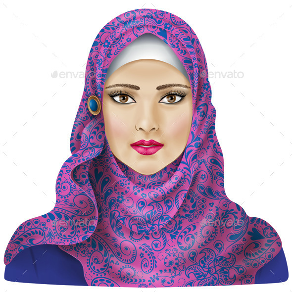 GraphicRiver Muslim Girl in Hijab 10457072
