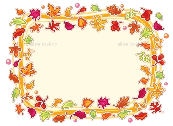 GraphicRiver Autumn Leaves Frame 10457130