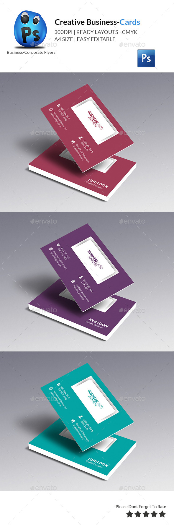 GraphicRiver Corporate Business Card Template 10412607