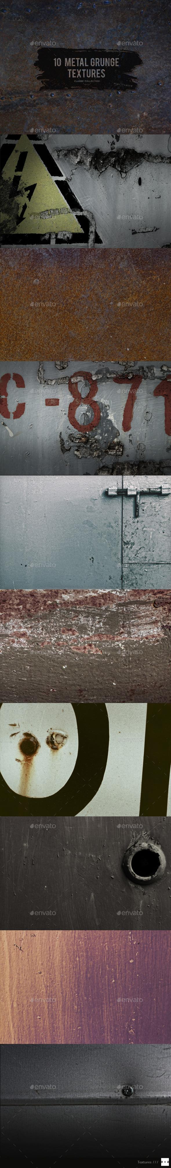 GraphicRiver 10 Metal Grunge Textures 10457319