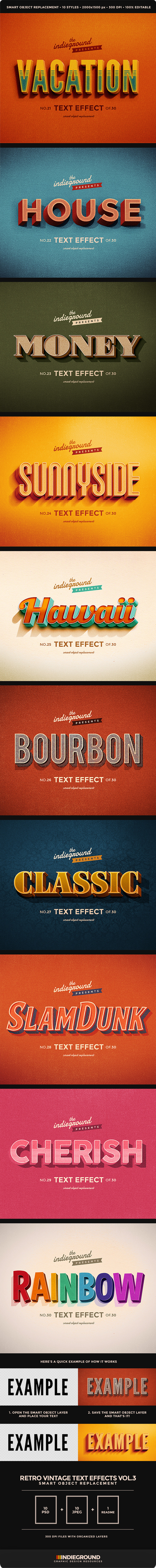 GraphicRiver Retro Vintage Text Effects Vol 3 10457336