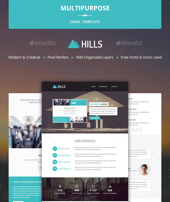 Multipurpose Email Template Hills