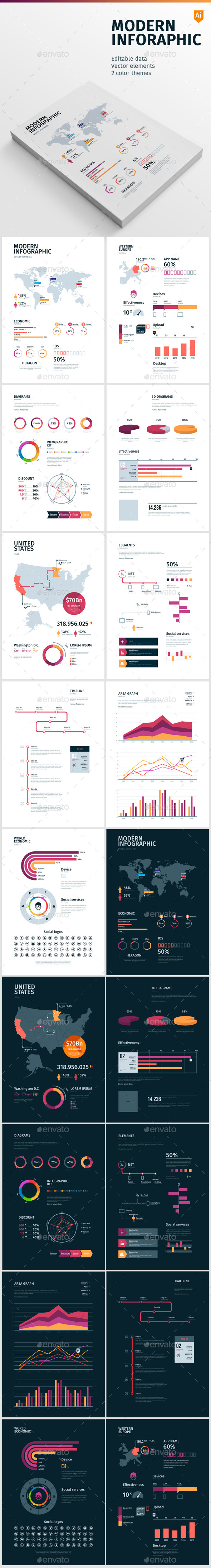 GraphicRiver Modern Infographic 10457391