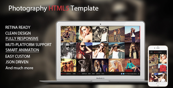 ThemeForest Pinetree Photography HTML5 Template 10418894