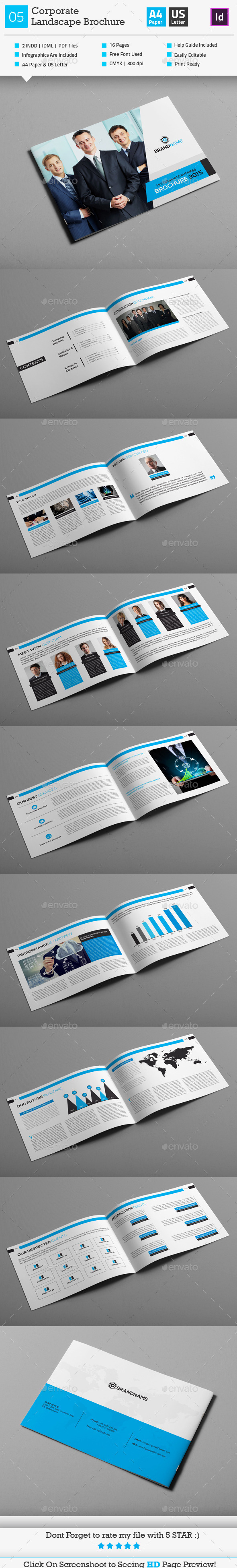 GraphicRiver Corporate Business Landscape Brochure 05 10403977