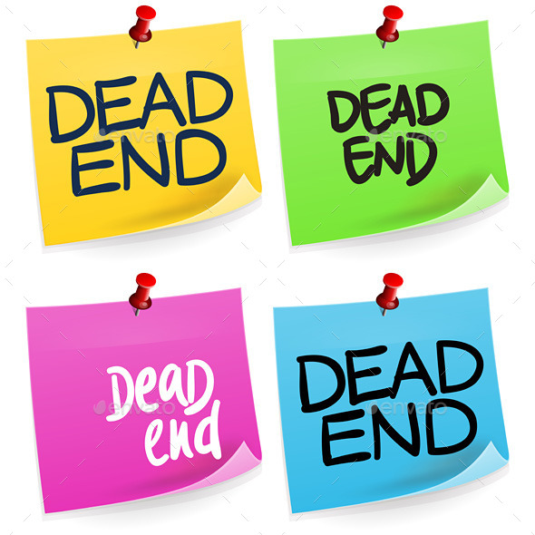 GraphicRiver Dead End Sticky Note 10457744