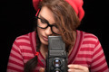 Young Woman Capturing Photo Using Vintage Camera - PhotoDune Item for Sale