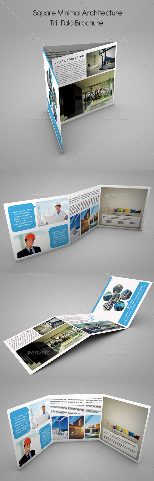 GraphicRiver Square Minimal Architecture Tri-Fold Brochure 10457825