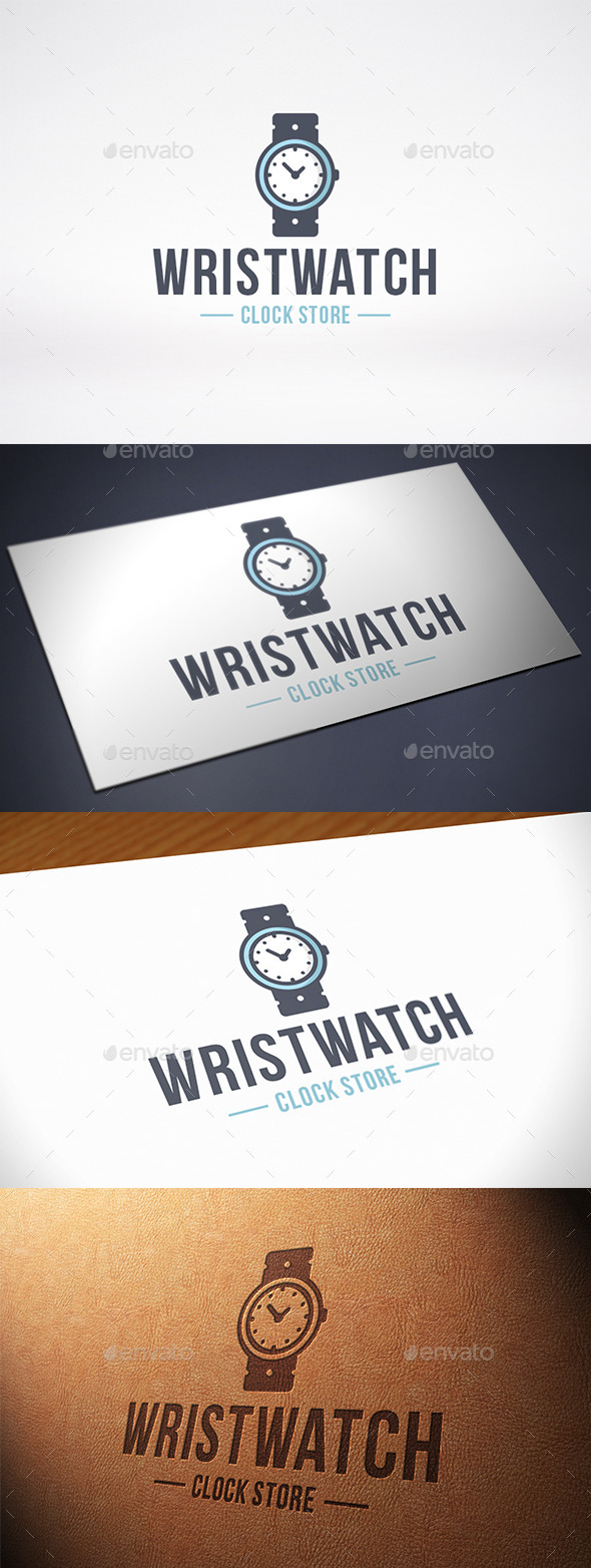 Clock Wristwatch Logo Template