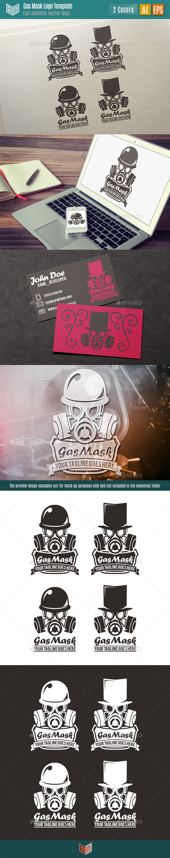 GraphicRiver Gas Mask Logo 10458194