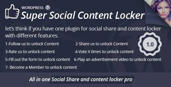 CodeCanyon Super Social Content Locker 10458363