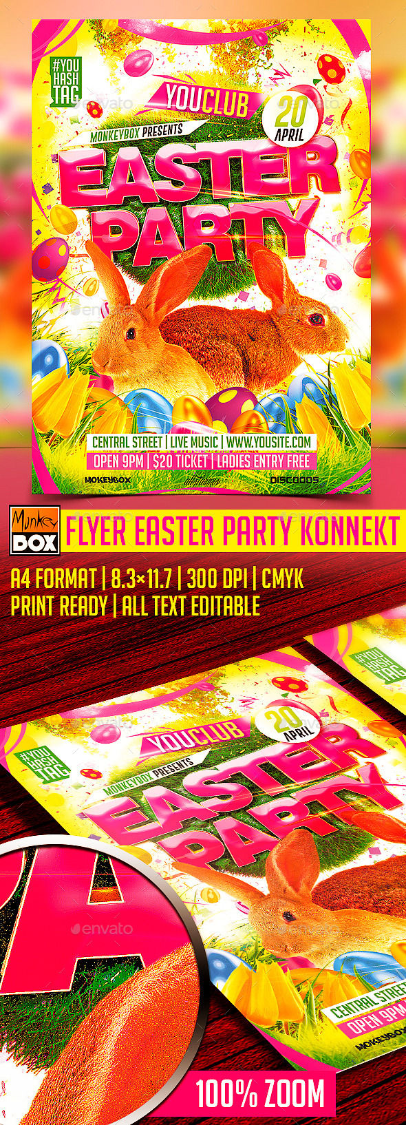 GraphicRiver Flyer Easter Party Konnekt 10458564
