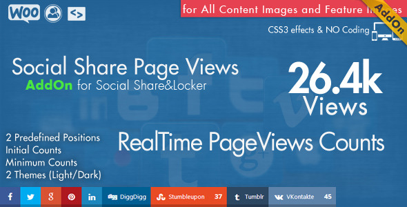 CodeCanyon Social Share Page Views AddOn WordPress 10458955