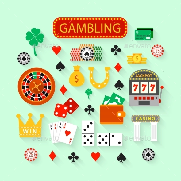 GraphicRiver Gambling Icons 10459309