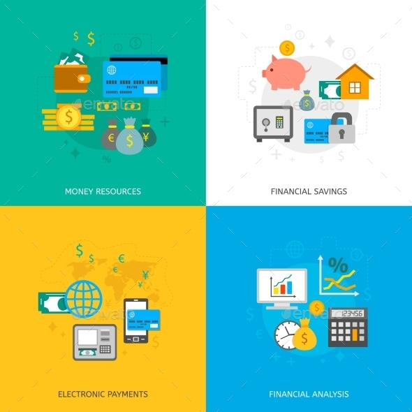 GraphicRiver Set of Finance and Money Icons 10459312