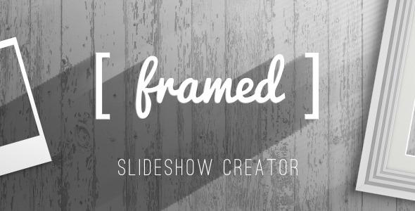 AE模板-简约艺术宝丽来相框照片展示投影机模板Framed免费下载