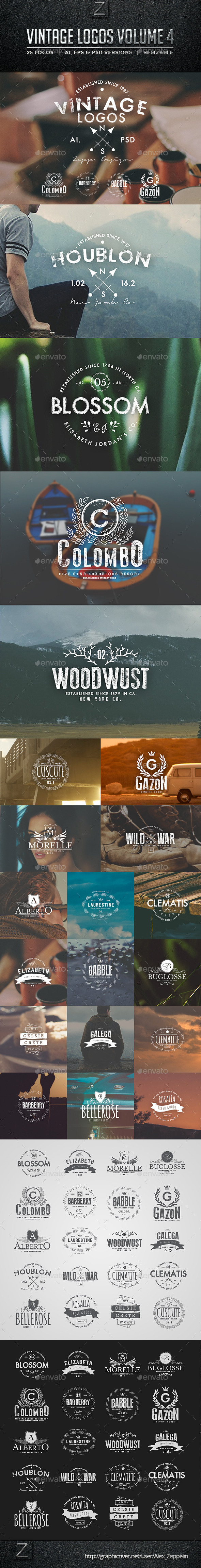 GraphicRiver Vintage Logos and Badges Set 4 10459419
