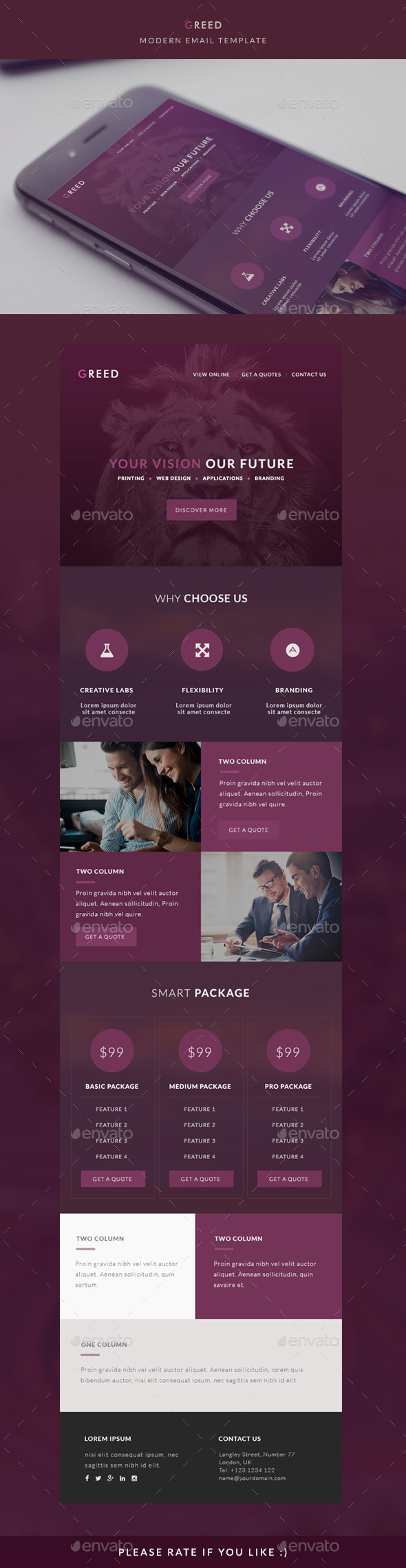 GraphicRiver Modern Email Template GREED 10459482