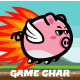 Game Character Flying Pig Sprite Sheets - GraphicRiver Item for Sale