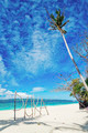puka beach sign in boracay island philippines - PhotoDune Item for Sale