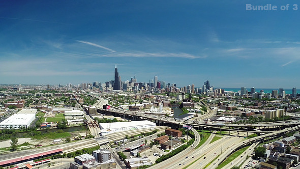 Chicago From Above in the Summer