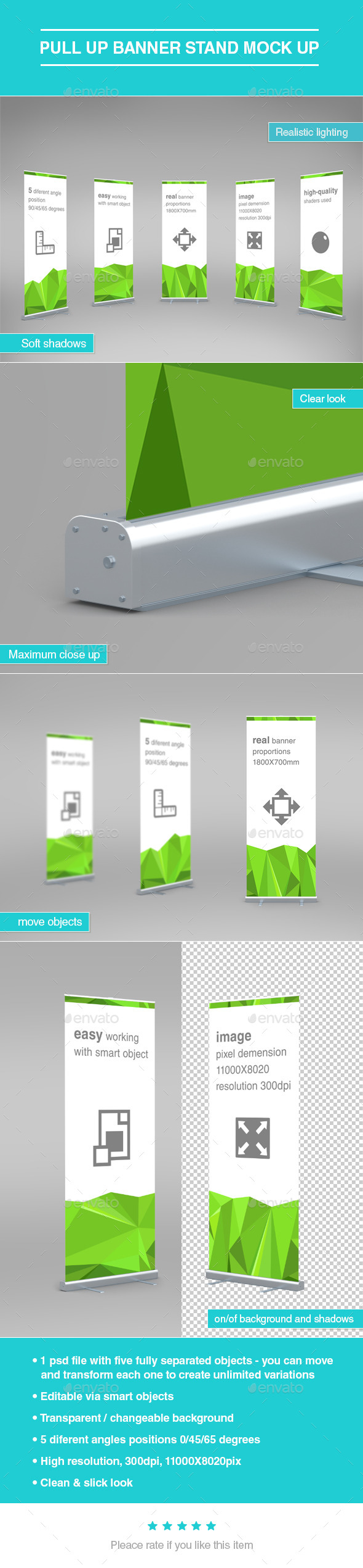 GraphicRiver Pull Up Banner Stand Mock-Up 10460118