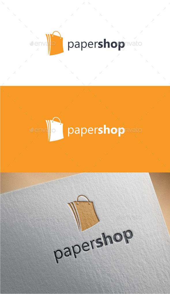 GraphicRiver Paper Shop Logo Template 10460134