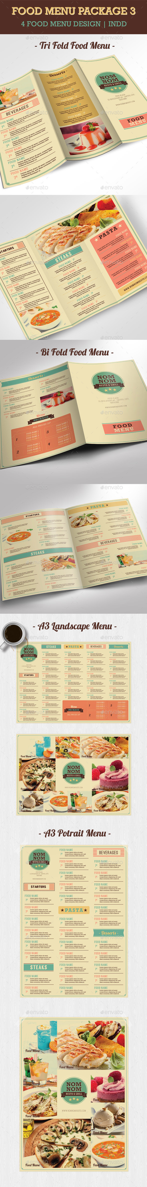 GraphicRiver Food Menu Package 3 10460268