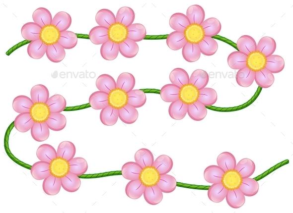 GraphicRiver Vine Flowers 10460269