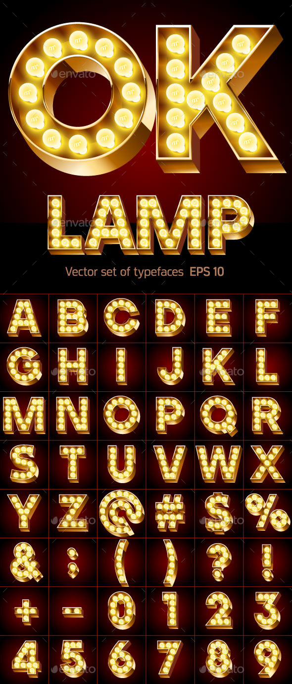 GraphicRiver Gold Lamp Font 10460314